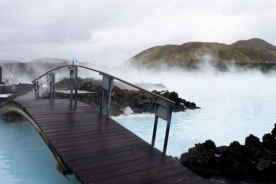 Blue Lagoon Pool and Bridge